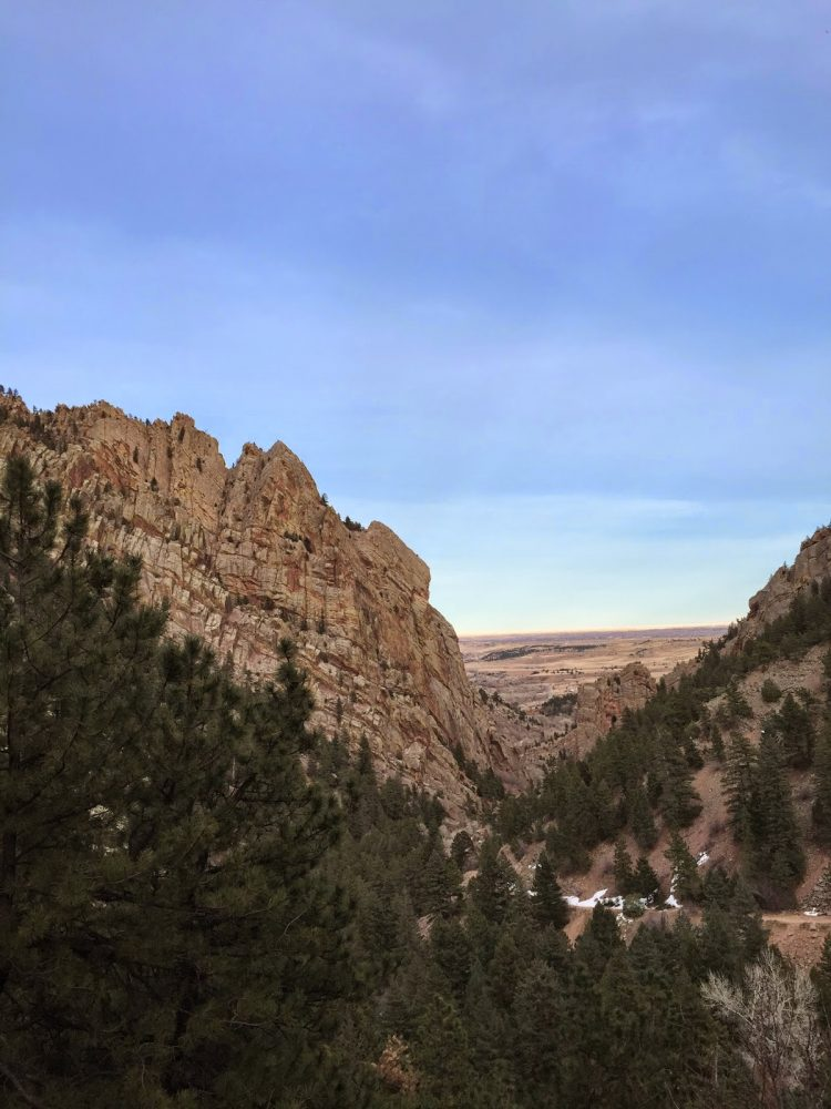 view facing east in eldorado canyon state park near boulder