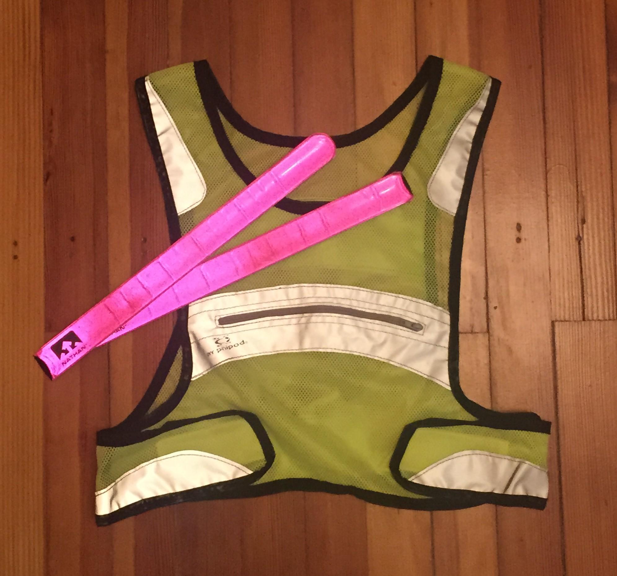 reflective gear for beginner runners 1 reflective vest reflective leg bands night running safety