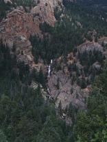 Close-up of the falls.