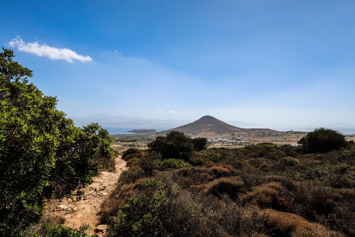 byzantine road greek island paros hiking