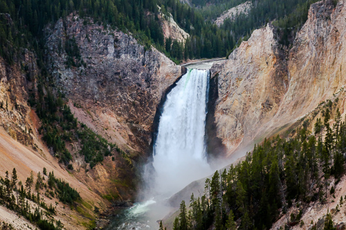 grand canyon of the yellowstone lower falls north rim