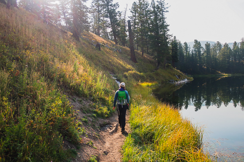 beginner hiking yellowstone trout lake fall beginner's guide