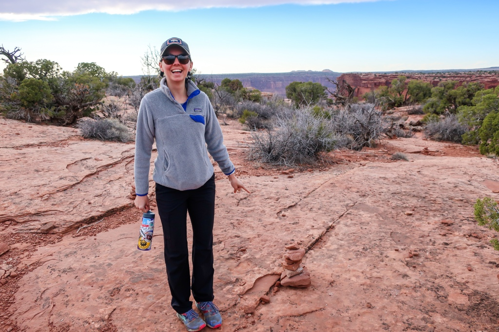 what is a cairn desert beginner friendly moab hiking dead horse point state park